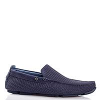 Синие туфли Luca Guerrini из кожи с перфорацией, фото