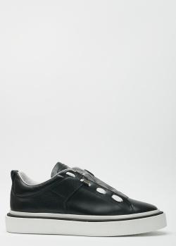 Черные кеды John Richmond с боковой шнуровкой, фото