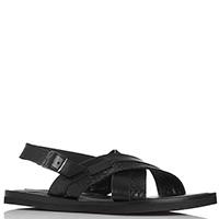 Черные сандалии Luca Guerrini с ремешком, фото