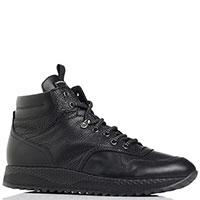 Черные ботинки Luca Guerrini из зернистой кожи, фото