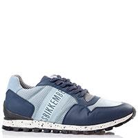 Синие кроссовки Bikkembergs из кожи и текстиля, фото