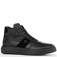 Ботинки Luca Guerrini из кожи черного цвета на меху, фото