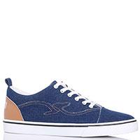 Джинсовые кеды Trussardi Jeans темно-синие, фото