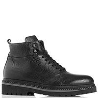 Черные ботинки Gianfranco Butteri на шнуровке, фото