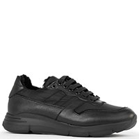 Утепленные кроссовки Camerlengo черного цвета на меху, фото