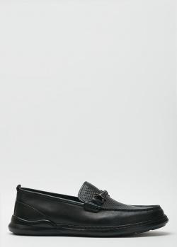 Мужские лоферы Roberto Serpentini черного цвета, фото