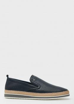 Синие туфли Roberto Serpentini с перфорацией, фото