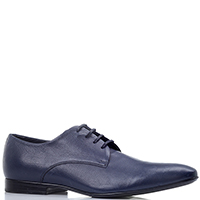 Мужские туфли Lab Milano из синей зернистой кожи, фото