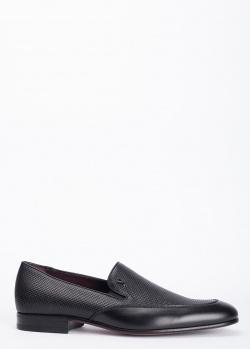Черные лоферы Valentino с эффектом плетения, фото