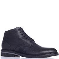 Зимние ботинки Gianfranco Butteri из кожи черного цвета, фото