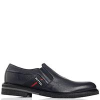 Туфли Gianfranco Butteri из зернистой кожи черного цвета, фото