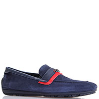 Замшевые туфли Gianfranco Butteri синего цвета, фото
