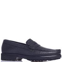 Черные туфли Roberto Serpentini из зернистой кожи, фото