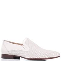 Белые туфли Giampiero Nicola с перфорацией, фото