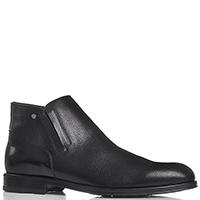 Мужские ботинки Giampiero Nicola из тисненной кожи черного цвета, фото