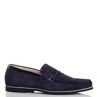 Туфли Giampiero Nicola из замши синего цвета, фото