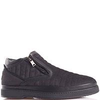 Стеганные ботинки Giampiero Nicola черного цвета, фото