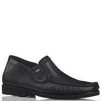 Туфли без шнуровки Good Man из черной зернистой кожи, фото