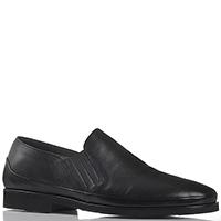 Мужские туфли Good Man из кожи черного цвета на меху, фото