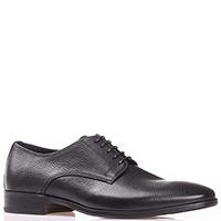 Мужские туфли-дерби Luigi Traini из черной кожи, фото