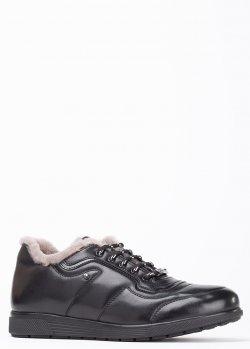 Зимние кроссовки Roberto Serpentini из гладкой кожи, фото