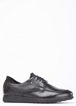 Черные туфли Roberto Serpentini на меху, фото