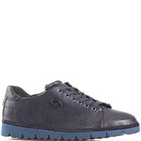Синие утепленные туфли Gianfranco Butteri из мягкой кожи, фото