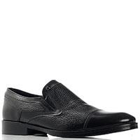 Черные туфли Mario Bruni из гладкой и зернистой кожи, фото