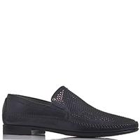 Мужские туфли Aldo Brue черного цвета с перфорацией, фото