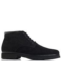 Замшевые ботинки Aldo Brue черного цвета, фото