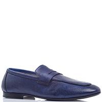 Туфли-лоферы Aldo Brue из тисненой кожи синего цвета, фото
