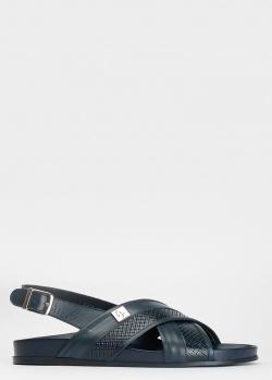 Мужские сандалии Giampiero Nicola синего цвета, фото