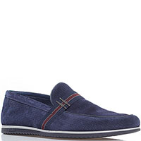 Синие туфли FABI из замши с мелкой перфорацией, фото