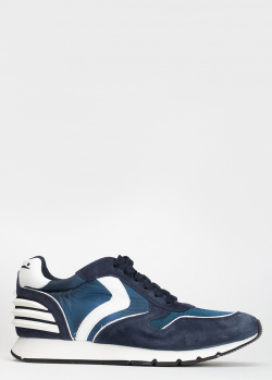 Синие кроссовки Voile Blanche из замши и текстиля, фото