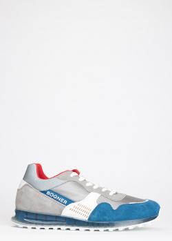 Замшевые кроссовки Bogner с синими вставками, фото