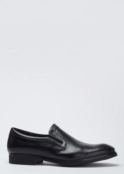 Черные туфли Mario Bruni из зернистой кожи, фото