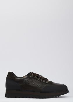 Кроссовки из кожи Luca Guerrini коричневого цвета, фото