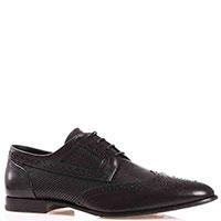 Черные туфли-броги Dino Bigioni с закругленным носком, фото