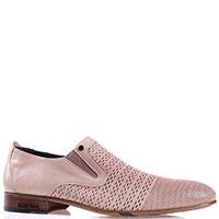 Бежевые туфли Mario Bruni со вставками-резинками, фото