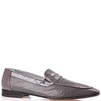 Серые туфли Mario Bruni из мягкой кожи с перфорацией, фото