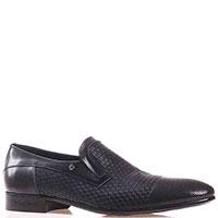 Туфли Mario Bruni черного цвета с декоративными тиснением и перфорацией, фото