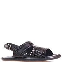 Черные сандалии Luca Guarini из тисненой кожи, фото