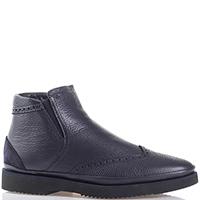 Синие ботинки Luca Guerrini из мягкой кожи, фото