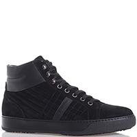 Черные ботинки Luca Guerrini из замши на меху, фото