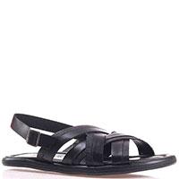 Черные сандалии Luca Guarini с элементами из тисненой кожи, фото