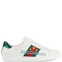 Белые кеды Gucci с логотипом, фото