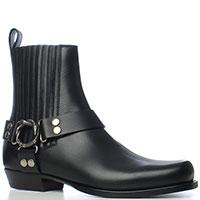 Черные ботинки Gucci с декором-ремешком, фото