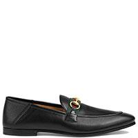 Черные лоферы Gucci с декором, фото