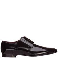 Туфли Dolce&Gabbana из гладкой черной кожи, фото