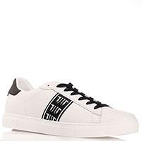 Кеды белые Trussardi Jeans с черной шнуровкой, фото